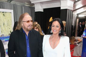 Barry Gibb FIJI Water At The 59th Annual GRAMMY Awards