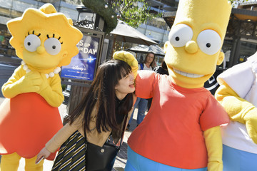 Bart Simpson Lisa Simpson Disney+ Official U.S. Launch Party At The Grove