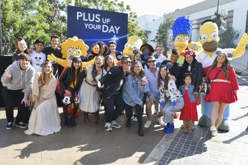 Bart Simpson Maggie Simpson Frank Rodriguez Disney+ Official U.S. Launch Party At The Grove