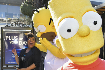Bart Simpson Yvette Nicole Brown Disney+ Official U.S. Launch Party At The Grove