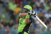 Jacques Kallis of the Thunder bats during the Big Bash League match between the Sydney Thunder and the Melbourne Renegades at Spotless Stadium on January 11, 2016 in Sydney, Australia.