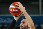 Rudy Fernandez #5 of Spain shoots for the basket during the Men's Basketball Bronze medal game between Australia and Spain on Day 16 of the Rio 2016 Olympic Games at Carioca Arena 1 on August 21, 2016 in Rio de Janeiro, Brazil.