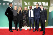 """(L-R) Colman Domingo, Sara Murphy, Dede Gardner, Tricia Tuttle, Barry Jenkins, Jeremy Kleiner and Nicholas Britell attend the European Premiere of """"If Beale Street Could Talk"""" & Love Gala during the 62nd BFI London Film Festival on October 20, 2018 in London, England."""