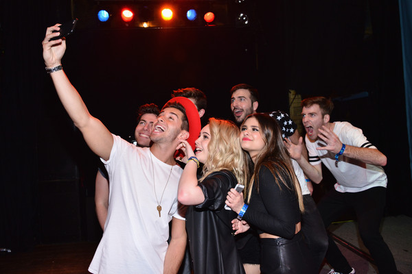 MTV Artists to Watch - Show [event,performance,product,fun,yellow,crowd,youth,stage,performing arts,party,jake miller,hoodie allen,jacquie lee,beatrice miller,william hehir,l-r,selfie,west hollywood,mtv artists to watch - show,misterwives]