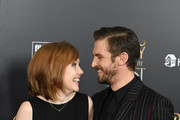 Susie Stevens (L) and actor Dan Stevens attend the New York special screening of Disney's live-action adaptation 'Beauty and the Beast' at Alice Tully Hall on March 13, 2017 in New York City. / AFP PHOTO / ANGELA WEISS