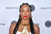 Monique Coleman attends Beautycon Los Angeles 2019 Pink Carpet at Los Angeles Convention Center on August 10, 2019 in Los Angeles, California.