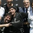 Bebeto Pele and Maradona Participate in Football Event at Palais Royal