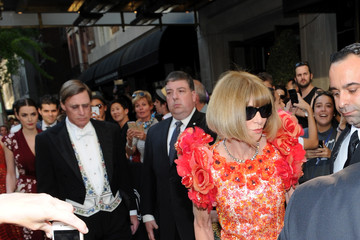 Bee Shaffer Met Gala 2015 Departures From The Mark Hotel - NYC