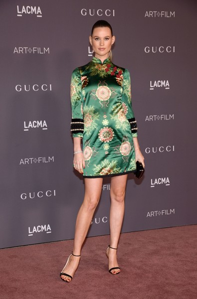2017 LACMA Art + Film Gala Honoring Mark Bradford and George Lucas - Arrivals [photo,fashion model,clothing,fashion,dress,cocktail dress,beauty,fashion design,footwear,carpet,red carpet,arrivals,mark bradford,george lucas,behati prinsloo,tara ziemba,los angeles,california,afp,lacma art film gala]