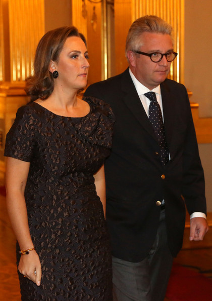 Princess Claire and Prince Laurent of Belgium attend a concert as part of 'Festival van Vlaanderen' at Palais de Bruxelles on October 24, 2012 in Brussel, Belgium.