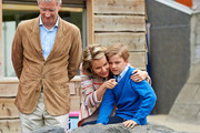 King Philippe, Queen Mathilde and Prince Gabriel of Belgium visit Sealife on July 12, 2014 in Blankenberge, Belgium.