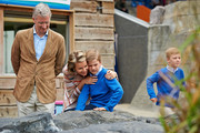 King Philippe, Queen Mathilde, Prince Gabriel and Prince Emmanuel of Belgium visit Sealife on July 12, 2014 in Blankenberge, Belgium.