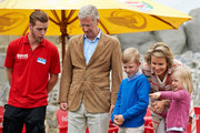 King Philippe, Prince Emmanuel, Queen Mathilde and Princess Eleonore of Belgium visit Sealife on July 12, 2014 in Blankenberge, Belgium.