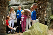 Princess Elisabeth, Prince Gabriel, Princess Eleonore, Queen Mathilde, Prince Emmanuel and King Philippe of Belgium visit Sealife on July 12, 2014 in Blankenberge, Belgium.