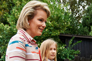 Queen Mathilde and Princess Elisabeth of Belgium visit Sealife on July 12, 2014 in Blankenberge, Belgium.