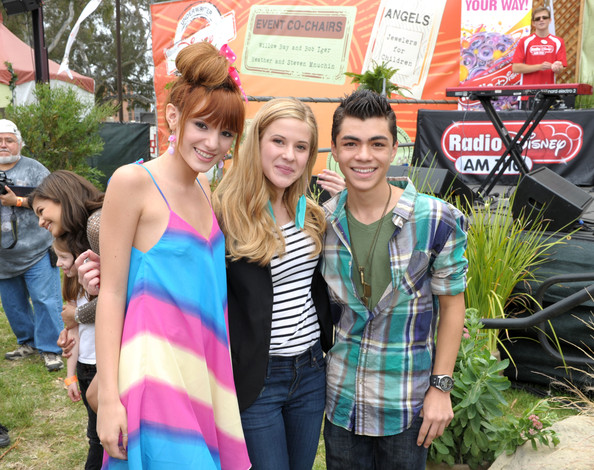 Bella Thorne (L-R) Actors Bella Thorne, Caroline Sunshine and Adam Irigoyen attend the 22nd Annual Time for Heroes Celebrity Picnic sponsored by Disney to benefit the Elizabeth Glaser Pediatric AIDS Foundation at Wadsworth Theater on the Veteran Administration Lawn on June 12, 2011 in Los Angeles, California.