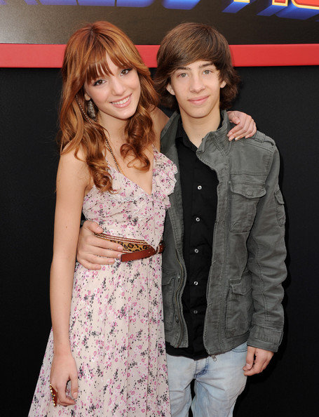 "Bella Thorne Actors Bella Thorne (L) and Jimmy Bennett arrive at the premiere of Walt Disney Pictures' ""Mars Needs Moms"" at the El Capitan Theater on March 6, 2011 in Los Angeles, California."