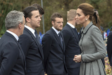 Ben Chilwell The Duke And Duchess Of Cambridge Visit Leicester