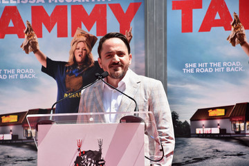 Ben Falcone Melissa McCarthy's Hand and Footprint Ceremony