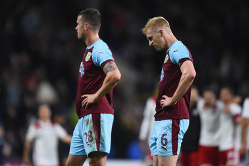 Ben Mee Burnley vs. Olympiakos - UEFA Europa League Qualifing Play-Off: Second Leg