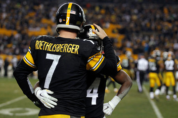 Ben Roethlisberger Antonio Brown Wild Card Playoffs - Baltimore Ravens v Pittsburgh Steelers
