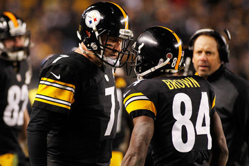 Ben Roethlisberger Antonio Brown Baltimore Ravens v Pittsburgh Steelers
