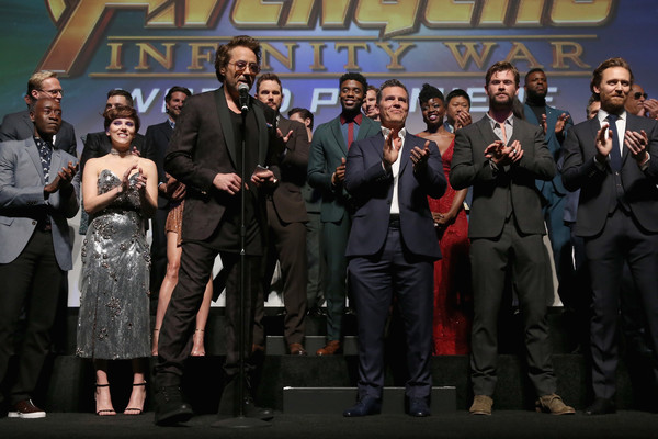 Los Angeles Global Premiere for Marvel Studios' 'Avengers: Infinity War' [avengers: infinity war,event,performance,team,premiere,robert downey jr.,avengers,crew,california,hollywood,los angeles global premiere,marvel studios]
