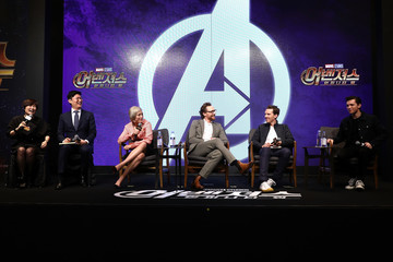 Benedict Cumberbatch Pom Klementieff 'Avengers Infinity War' Press Conference In Seoul