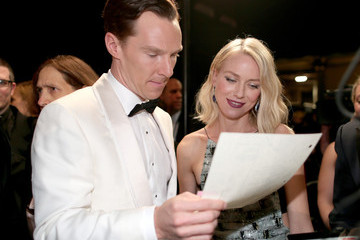 Benedict Cumberbatch Behind the Scenes at the Oscars