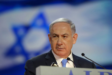 Benjamin Netanyahu Political Leaders Address Annual AIPAC Policy Conference