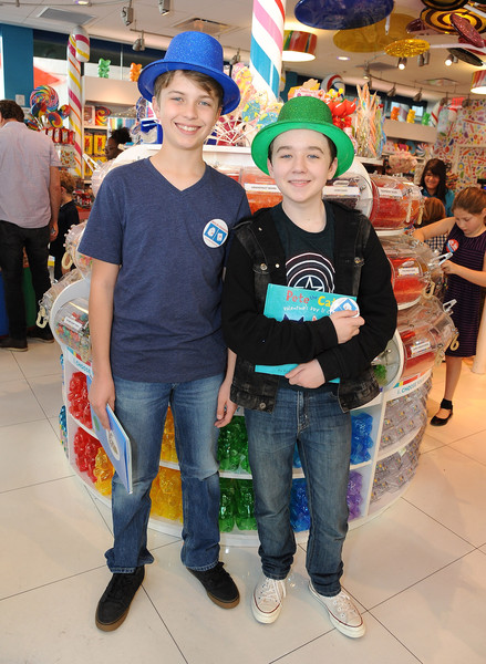 Dylan's Candy Bar And Milk + Bookies Partner For The LA Launch Of The 50th Anniversary Charlie And The Chocolate Factory Capsule Collection [la launch of the 50th anniversary charlie and the chocolate factory,people,green,fun,event,costume,leisure,t-shirt,shopping mall,jeans,vacation,bookies,jacob hopkins,partner,benjamin stockham,milk,the grove,dylans candy bar,capsule collection,the la launch]