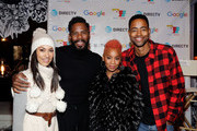 Panlelists Janina Gavankar (L-R) Colman Domingo, Anika Noni Rose and Jay Ellis attend the second annual Cocktails and Conversation event presented by the Bentonville Film Festival and Google at the DirecTV Lodge presented by AT&T during Sundance Film Festival 2018 on January 20, 2018 in Park City, Utah.