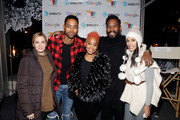Elizabeth Wagmeister, (L-R) Jay Ellis, Anika Noni Rose, Colman Domingo and Janina Gavankar attend the second annual Cocktails and Conversation event presented by the Bentonville Film Festival and Google at the DirecTV Lodge presented by AT&T during Sundance Film Festival 2018 on January 20, 2018 in Park City, Utah.