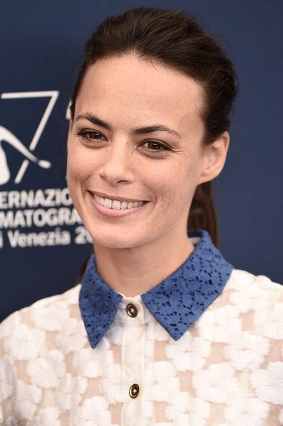 'The Childhood of a Leader' Photocall - 72nd Venice Film Festival [the childhood of a leader,hair,eyebrow,hairstyle,chin,forehead,smile,white-collar worker,neck,fashion accessory,bow tie,berenice bejo,photocall,palazzo del casino,venice,italy,venice film festival,photocall - 72nd]