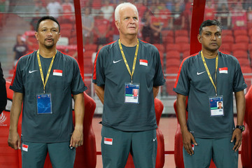 Bernd Stange Singapore v Afghanistan: FIFA 2018 World Cup Qualifier