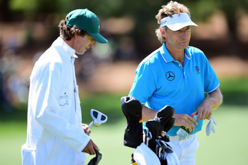 Bernhard Langer Terry Holt The Masters - Round One