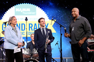 Bernie Williams Mary Luehrsen The 2019 NAMM Show, Saturday, January 26