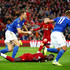 Sadio Mane Photos - Sadio Mane of Liverpool is fouled by Marc Albrighton of Leicester City and a penalty is later awarded during the Premier League match between Liverpool FC and Leicester City at Anfield on October 05, 2019 in Liverpool, United Kingdom. - Best of Premier League - Match Week Eight