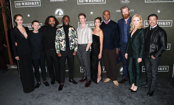 """Premiere Of Paramount Pictures' """"68 Whiskey"""" - Arrivals [social group,event,premiere,team,whiskey,arrivals,gage golightly,lamont thompson,cristina rodlo,sam keeley,l-r,paramount pictures,premiere,premiere,nicholas coombe,jeremy tardy,68 whiskey,getty images,stock photography,photography,photograph,image,royalty-free]"""