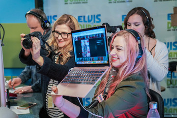 Bethany Watson Liam Payne and Rita Ora Visit 'The Elvis Duran Z100 Morning Show'