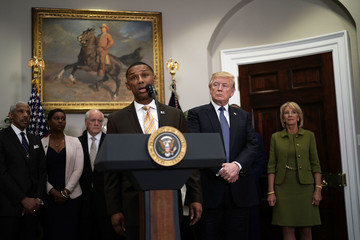 Betsy DeVos President Trump Announces Johnny Taylor Jr. To Become Chairman Of White House Initiative Of Historically Black Colleges And Universities