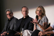 "(L-R) Executive producer Peter Gould, actors Bob Odenkirk, and Rhea Seehorn attend the ""Better Call Saul"" ATAS FYC Event at Sony Pictures Studios on April 14, 2016 in Culver City, California."