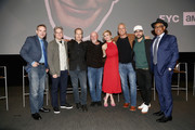 (L-R) Michael Schneider, Peter Gould, Bob Odenkirk, Jonathan Banks, Rhea Seehorn, Patrick Fabian, Michael Mando and Giancarlo Esposito attend the Better Call Saul FYC Event at the Television Academy on March 26, 2019 in North Hollywood, California.