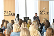 Jennifer Stagg of Stagg Design (L) and Designer Bobby Berk speak during Better Homes & Gardens Stylemaker 2019 at PUBLIC Hotel on September 19, 2019 in New York City.