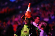 Former professional footballer Robin van Persie attends the Betway Premier League Darts Play-Offs at The O2 Arena on May 17, 2018 in London, England.