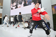Owners of Playground LA, Robin Antin and Kenny Wormald teach a dance class at Beverly Center's Grand Reveal: Fitness & Fashion with top LA studios at Beverly Center on November 4, 2018 in Los Angeles, California.