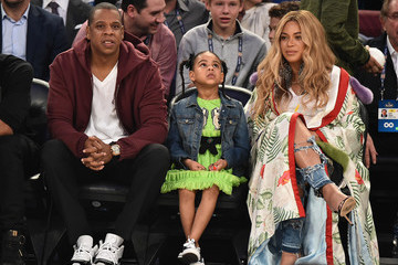 Beyonce Knowles Celebrities Attend The 66th NBA All-Star Game