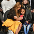 Beyonce Knowles Celebrities At The 67th NBA All-Star Game: Team LeBron Vs. Team Stephen