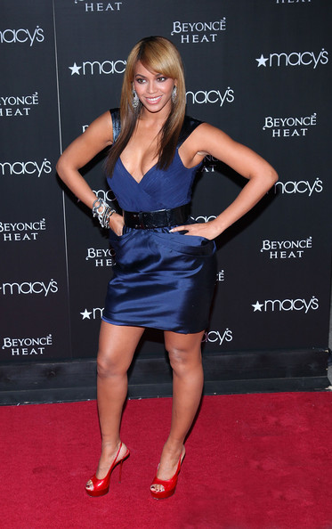 "Singer and actress Beyonce Knowles attends the launch of her fragrance ""Heat"" at Macy's Herald Square on February 3, 2010 in New York City."