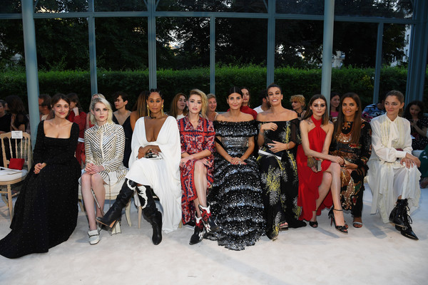 Valentino: Front Row - Paris Fashion Week - Haute Couture Fall Winter 2018/2019